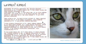 written kitten lorem ipsum northeastern writing center