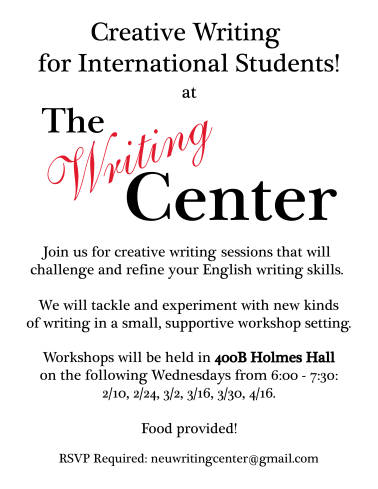 Creative Writing Flyer